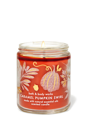 Caramel Pumpkin Swirl   Single Wick Candle