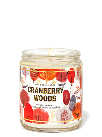 Cranberry Woods   Single Wick Candle